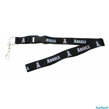 Anaheim Angels lanyard keychain detachable black | Final Playoff