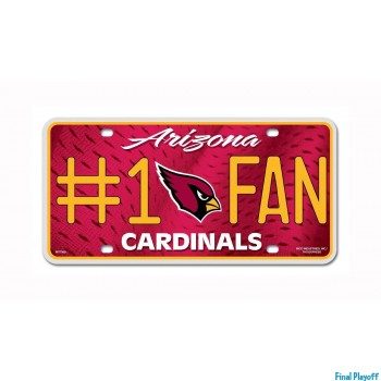 Arizona Cardinals metal license plate | Final Playoff
