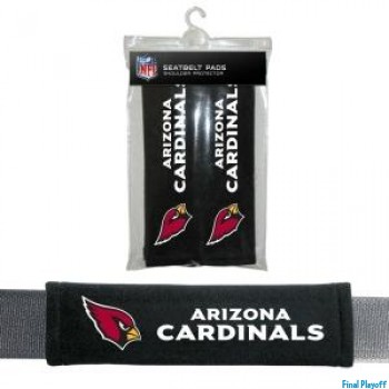 Arizona Cardinals seat belt pads | Final Playoff