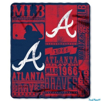Atlanta Braves fleece throw blanket | Final Playoff