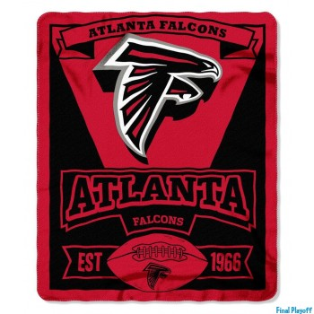 Atlanta Falcons fleece throw blanket | Final Playoff