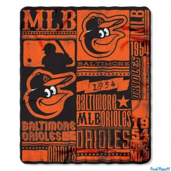 Baltimore Orioles fleece throw blanket | Final Playoff