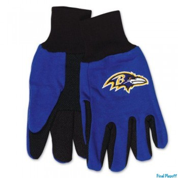 Baltimore Ravens two tone utility gloves | Final Playoff