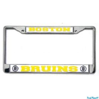 Boston Bruins license plate frame holder | Final Playoff