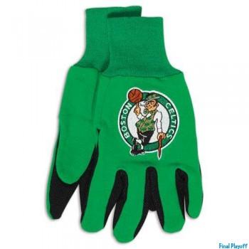 Boston Celtics two tone utility gloves | Final Playoff