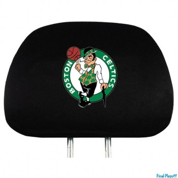 Boston Celtics headrest covers 2pc | Final Playoff