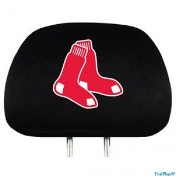 Boston Red Sox headrest covers 2pc | Final Playoff