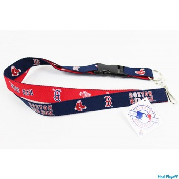 Boston Red Sox lanyard keychain detachable 2 tone | Final Playoff