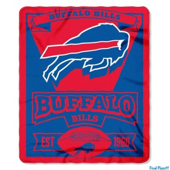 Buffalo Bills fleece throw blanket | Final Playoff