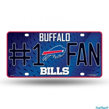 Buffalo Bills metal license plate | Final Playoff
