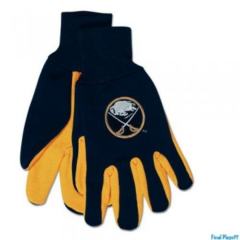 Buffalo Sabres two tone utility gloves | Final Playoff