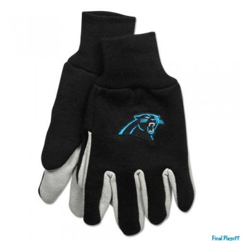 Carolina Panthers two tone utility gloves | Final Playoff