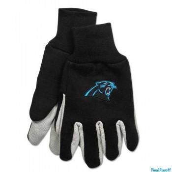 Carolina Panthers two tone utility gloves | Final Playoff