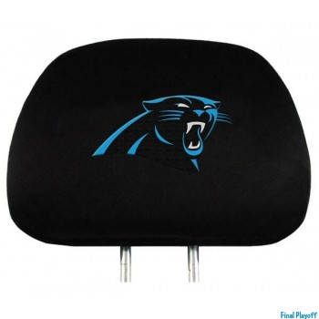 Carolina Panthers headrest covers 2pc | Final Playoff