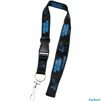 Carolina Panthers lanyard keychain detachable | Final Playoff