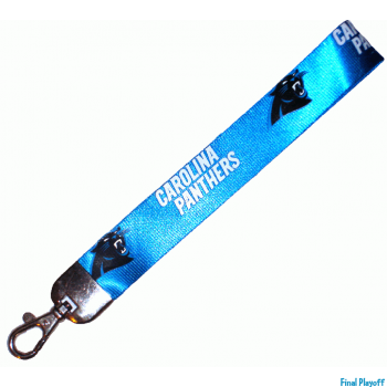 Carolina Panthers wristlet lanyard lobster clasp | Final Playoff