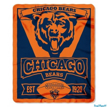 Chicago Bears fleece throw blanket | Final Playoff
