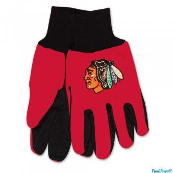 Chicago Blackhawks two tone utility gloves | Final Playoff