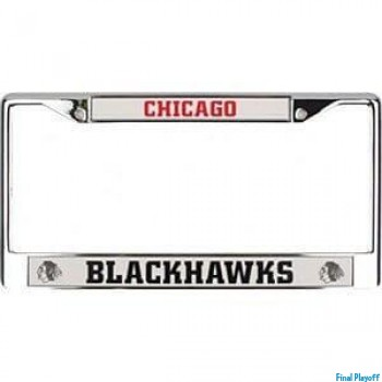 Chicago Blackhawks license plate frame holder | Final Playoff