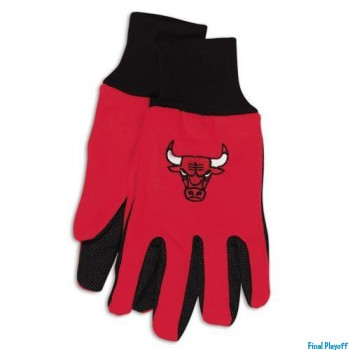 Chicago Bulls two tone utility gloves | Final Playoff