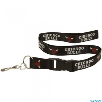 Chicago Bulls lanyard keychain detachable black | Final Playoff