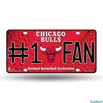Chicago Bulls metal license plate | Final Playoff