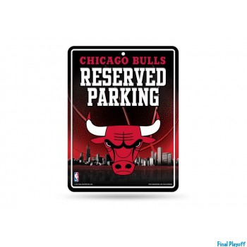 Chicago Bulls metal parking sign | Final Playoff