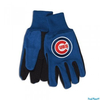 Chicago Cubs two tone utility gloves   Final Playoff