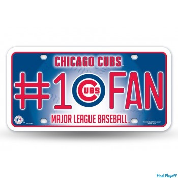Chicago Cubs metal license plate | Final Playoff