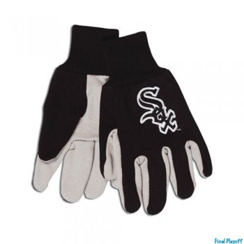 Chicago White Sox two tone utility gloves | Final Playoff