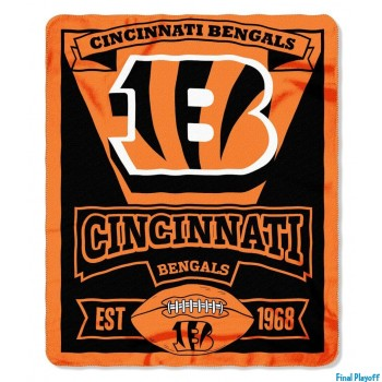 Cincinnati Bengals fleece throw blanket | Final Playoff