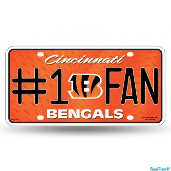 Cincinnati Bengals metal license plate | Final Playoff
