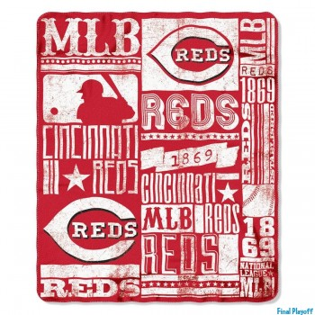 Cincinnati Reds fleece throw blanket | Final Playoff