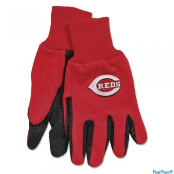 Cincinnati Reds two tone utility gloves | Final Playoff