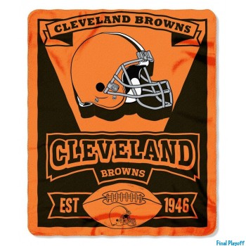 Cleveland Browns fleece throw blanket | Final Playoff