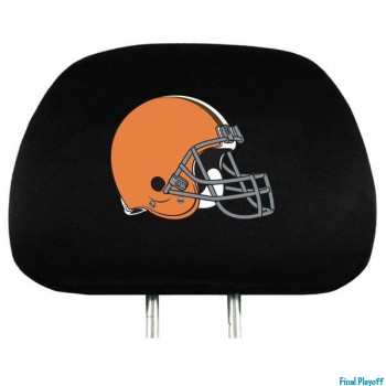 Cleveland Browns headrest covers 2pc | Final Playoff