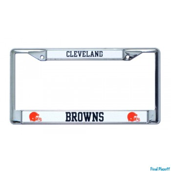 Cleveland Browns license plate frame holder | Final Playoff