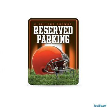 Cleveland Browns metal parking sign | Final Playoff