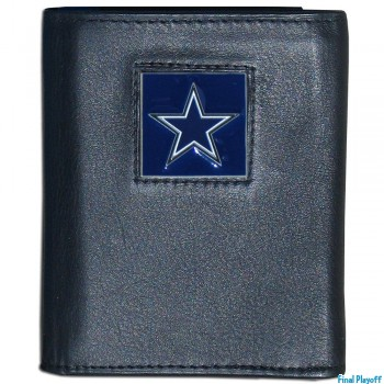 Dallas Cowboys black leather tri-fold wallet | Final Playoff
