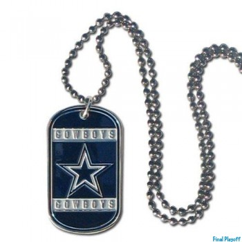 Dallas Cowboys dog tag necklace | Final Playoff