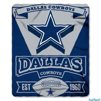 Dallas Cowboys fleece throw blanket | Final Playoff