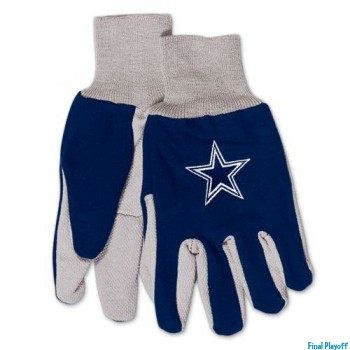 Dallas Cowboys two tone utility gloves | Final Playoff