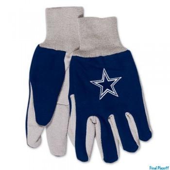 Dallas Cowboys two tone utility gloves | Final Playoff