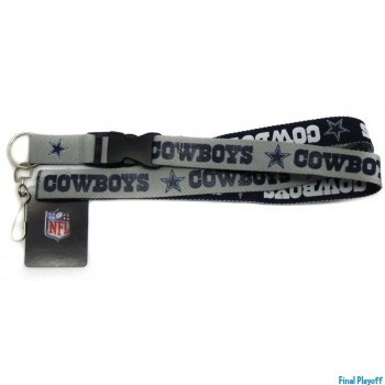 Dallas Cowboys lanyard keychain detachable 2 tone | Final Playoff