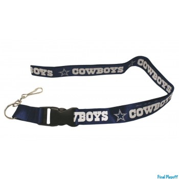 Dallas Cowboys lanyard keychain detachable blue | Final Playoff