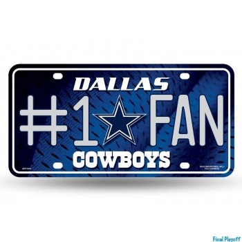 Dallas Cowboys metal license plate | Final Playoff