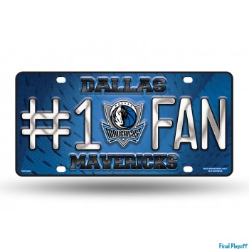 Dallas Mavericks metal license plate | Final Playoff