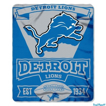 Detroit Lions fleece throw blanket | Final Playoff