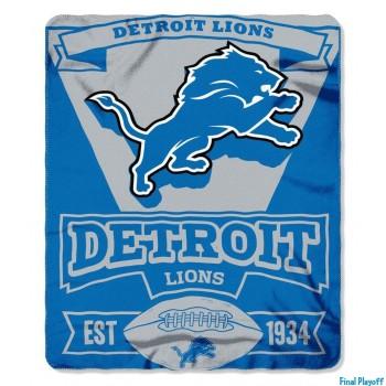 Detroit Lions fleece throw blanket | Final Playoff