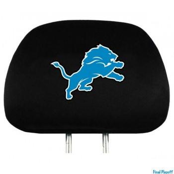Detroit Lions headrest covers 2pc | Final Playoff